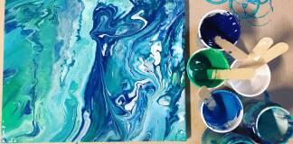 Pittura a colata acrilica